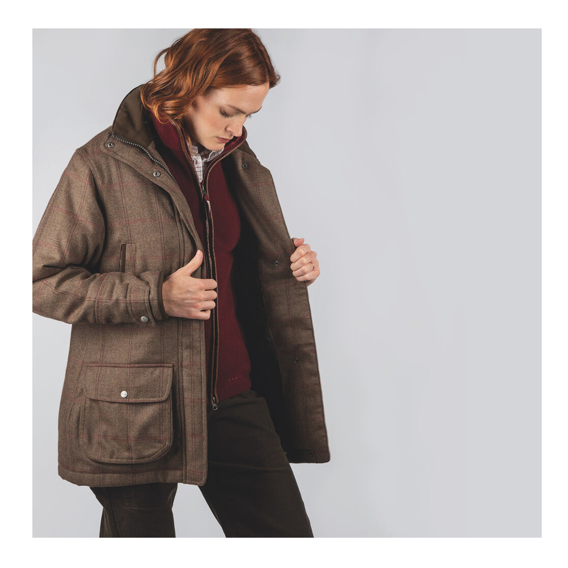 Ptarmigan Tweed Coat  for Women in Sussex Tweed
