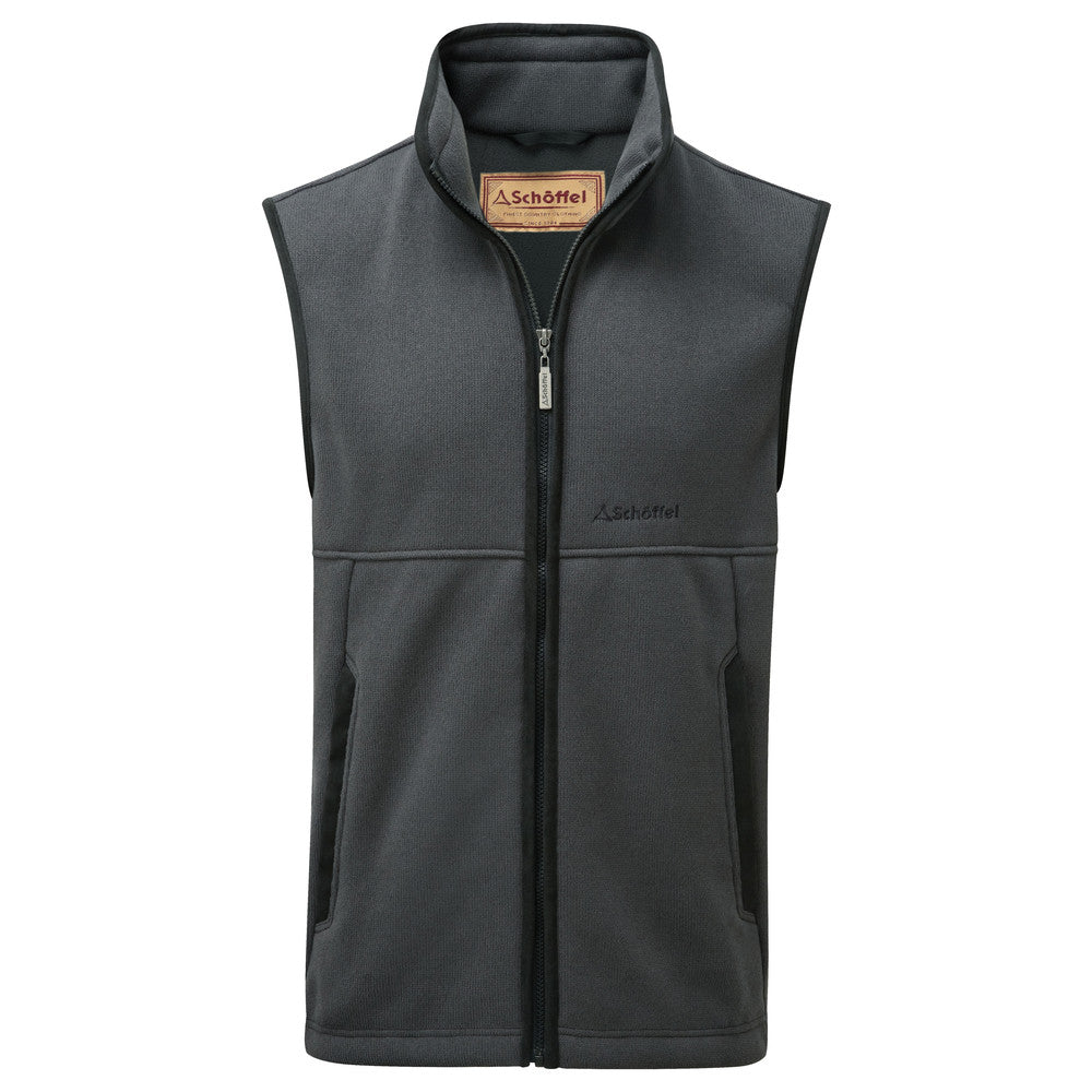 Fulham Fleece Gilet for Men in Charcoal