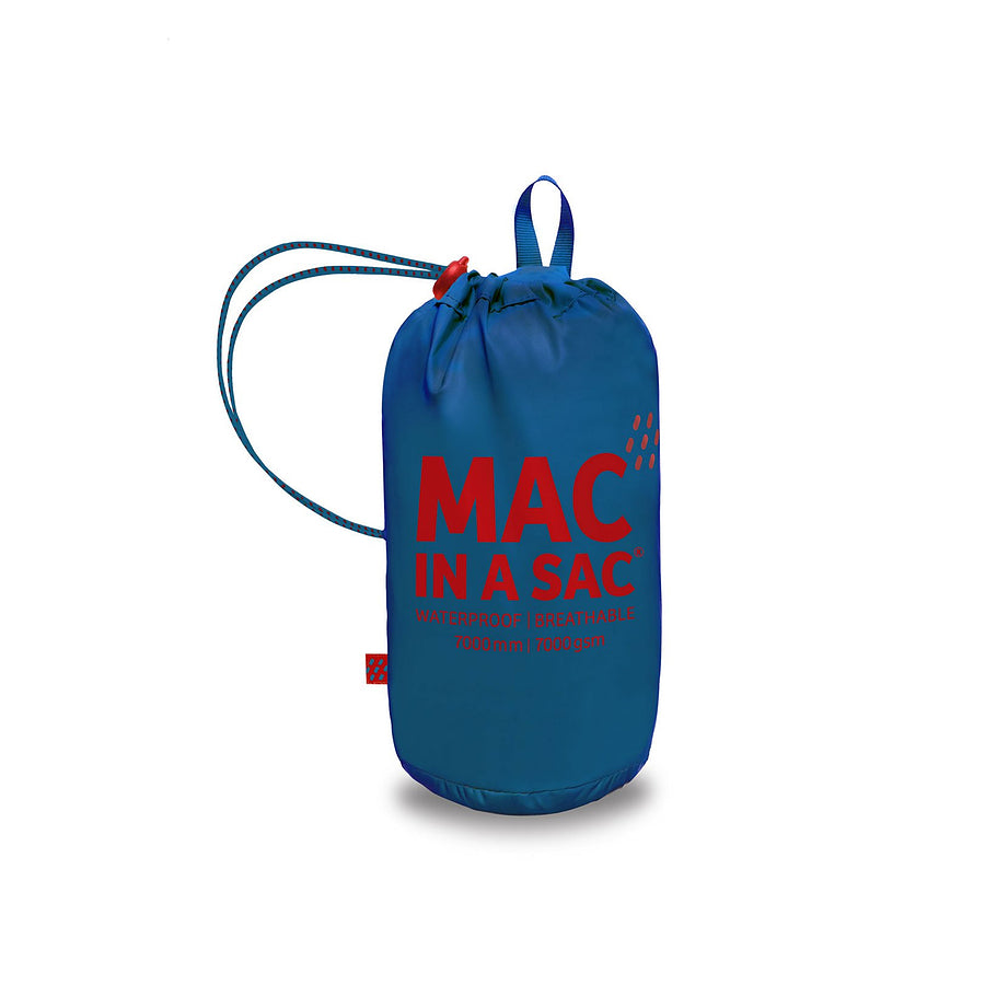 Mac in a Sac Origin Unisex Waterproof Packaway Jacket in Electric Blue
