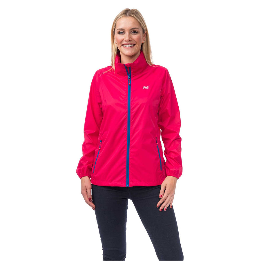 Mac in a Sac Origin Unisex Waterproof Packaway Jacket in Magenta