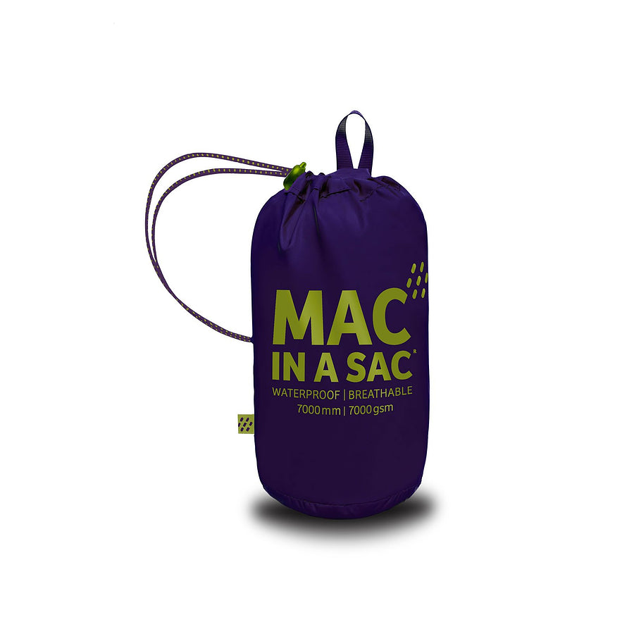 Mac in a Sac Origin Unisex Waterproof Packaway Jacket in Grape