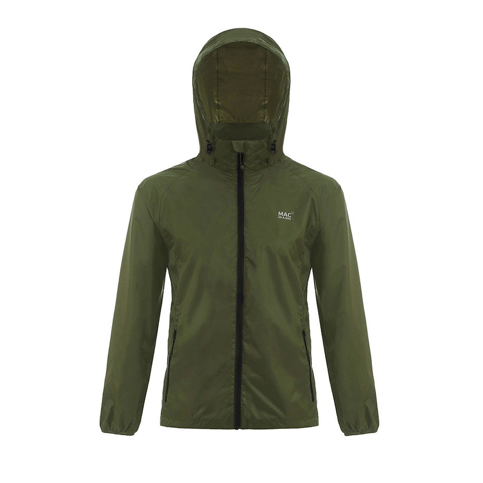 Mac in a Sac Origin Unisex Waterproof Packaway Jacket in Khaki
