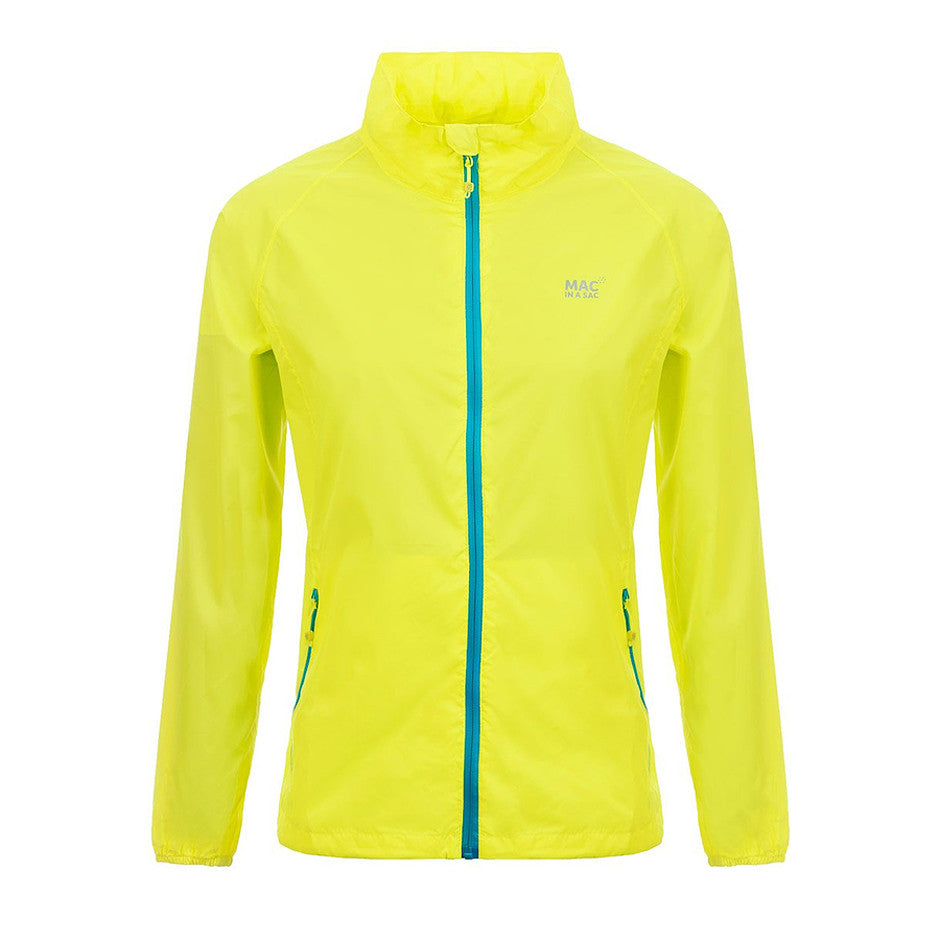 Mac in a Sac Origin Unisex Waterproof Packaway Jacket in Neon Yellow