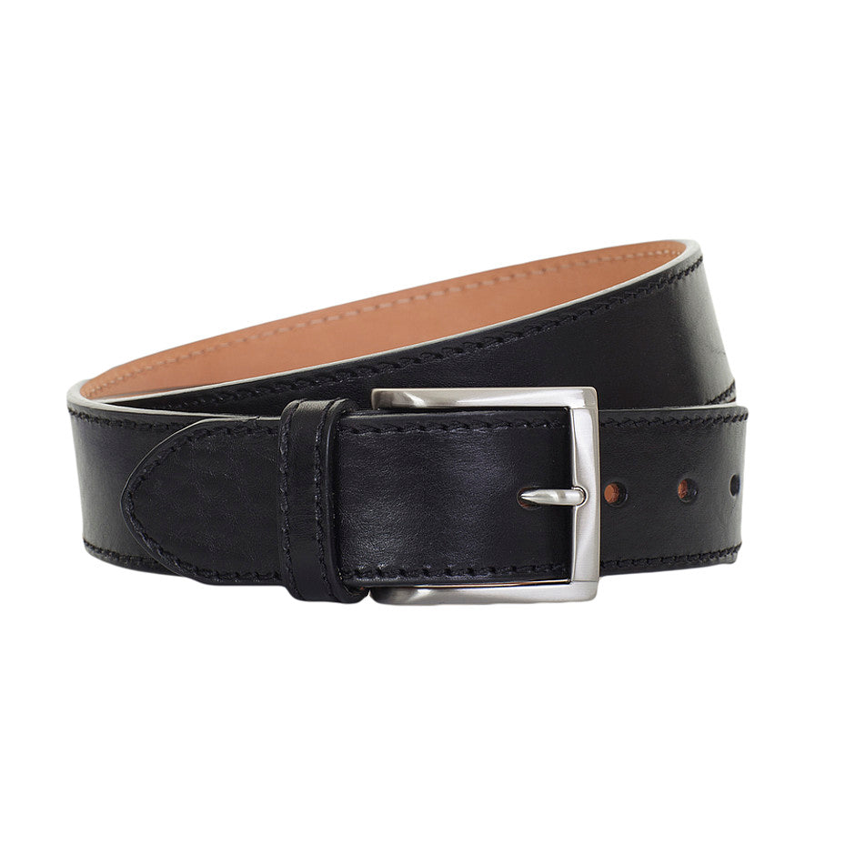 Leather Belt for Men in Black