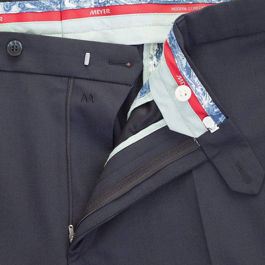 Oslo Soft Gabardine Trousers for Men in Navy