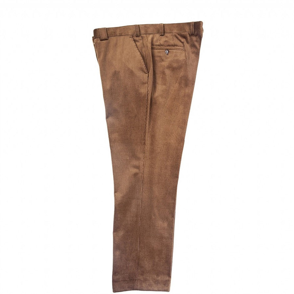 Roma Stretch Cords for Men in Brown for 46 - 52 ins Waist