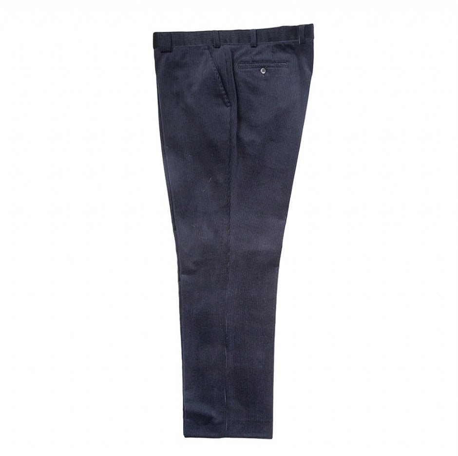 Roma Stretch Cords for Men in Navy for 46 - 52 ins Waist