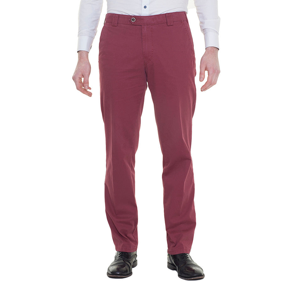 Roma Chino for Men in Deep Red