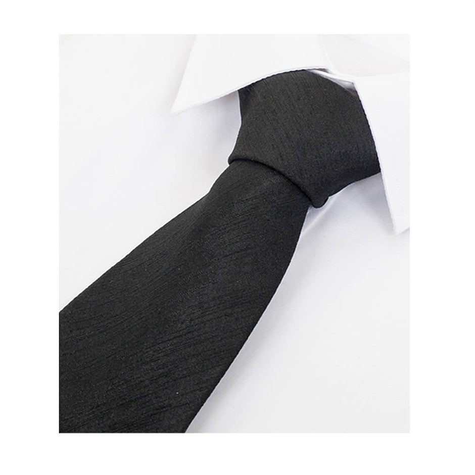 Satin Look Extra Long Tie for Men in Black