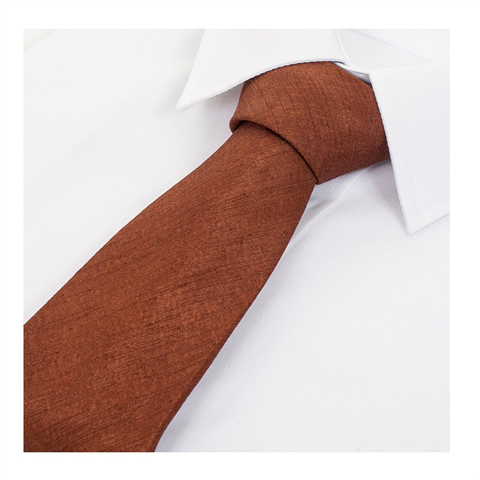 Satin Look Extra Long Tie for Men in Brown