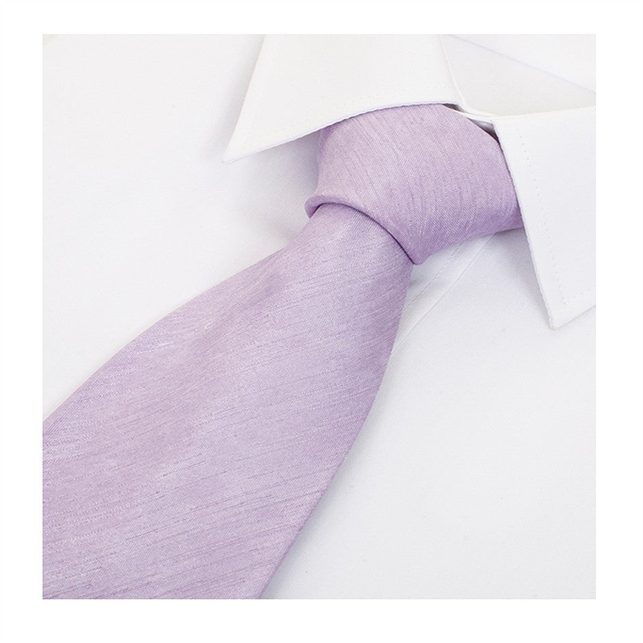 Satin Look Extra Long Tie for Men in Lilac