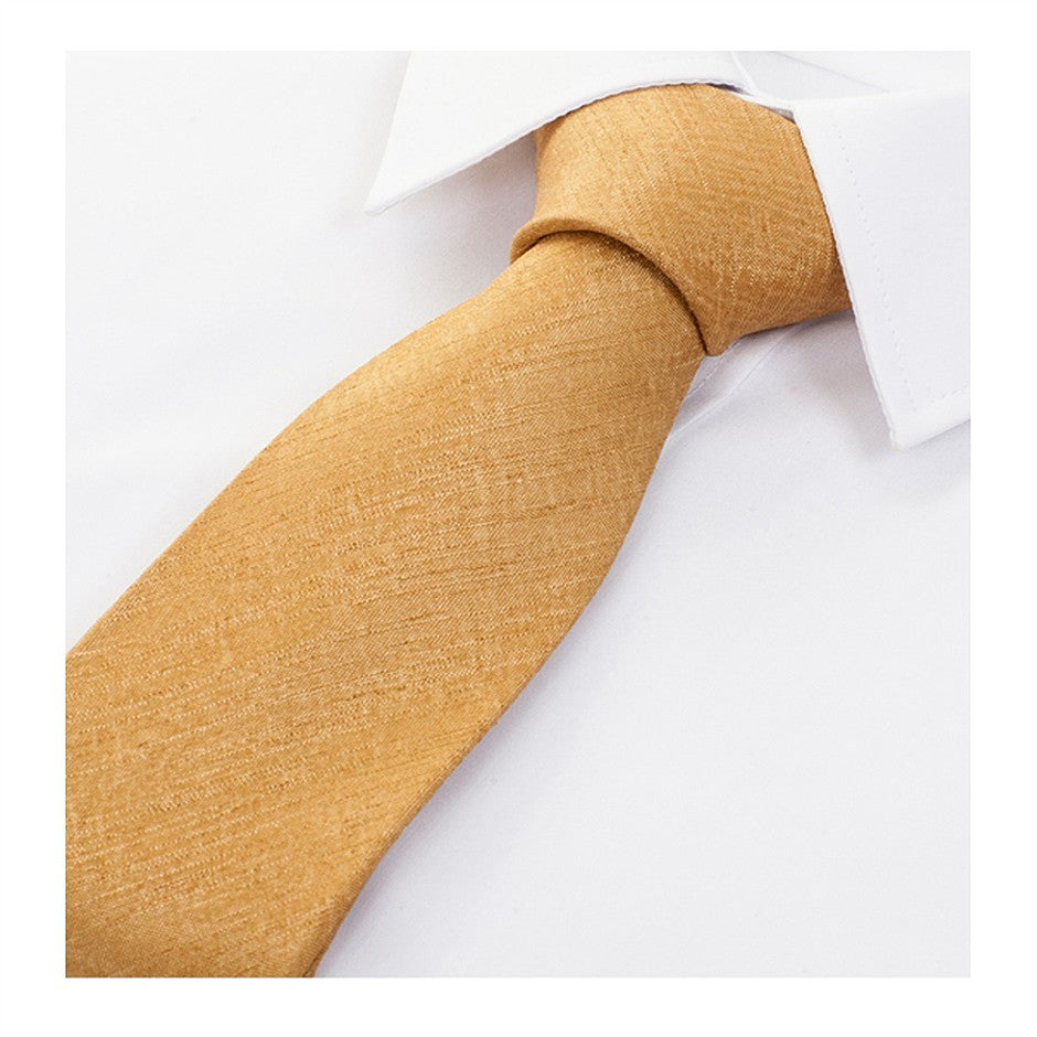 Satin Look Extra Long Tie for Men in Tan