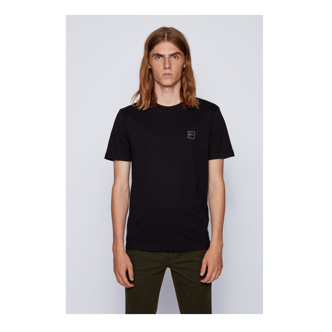 Plain Tee Shirt for Men in Black