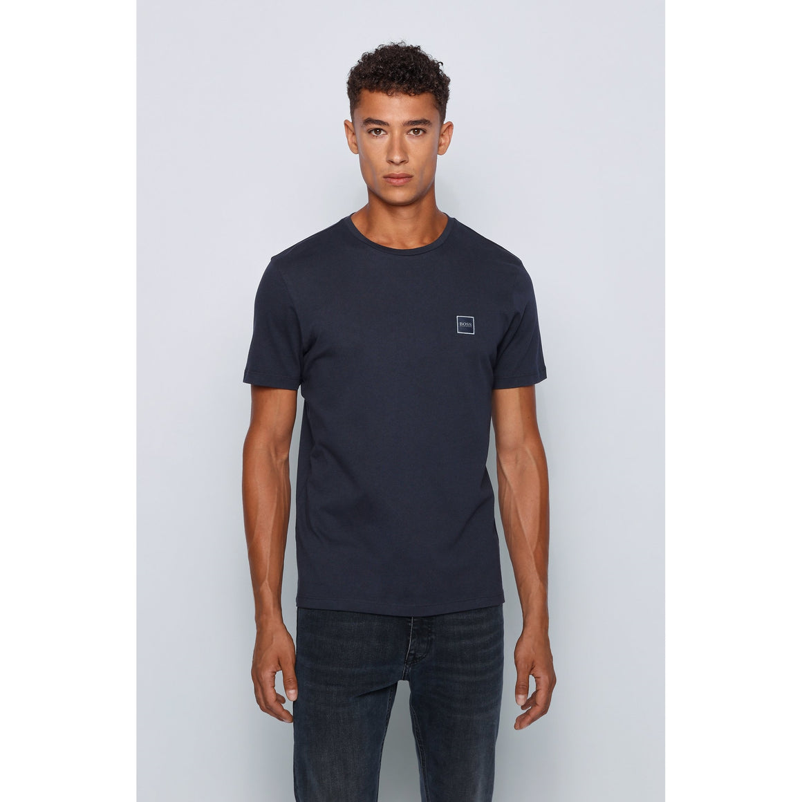 Plain Tee Shirt for Men in Navy