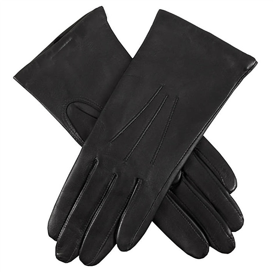 Isabelle Cashmere Lined Hairsheep Leather Gloves for Women in Black