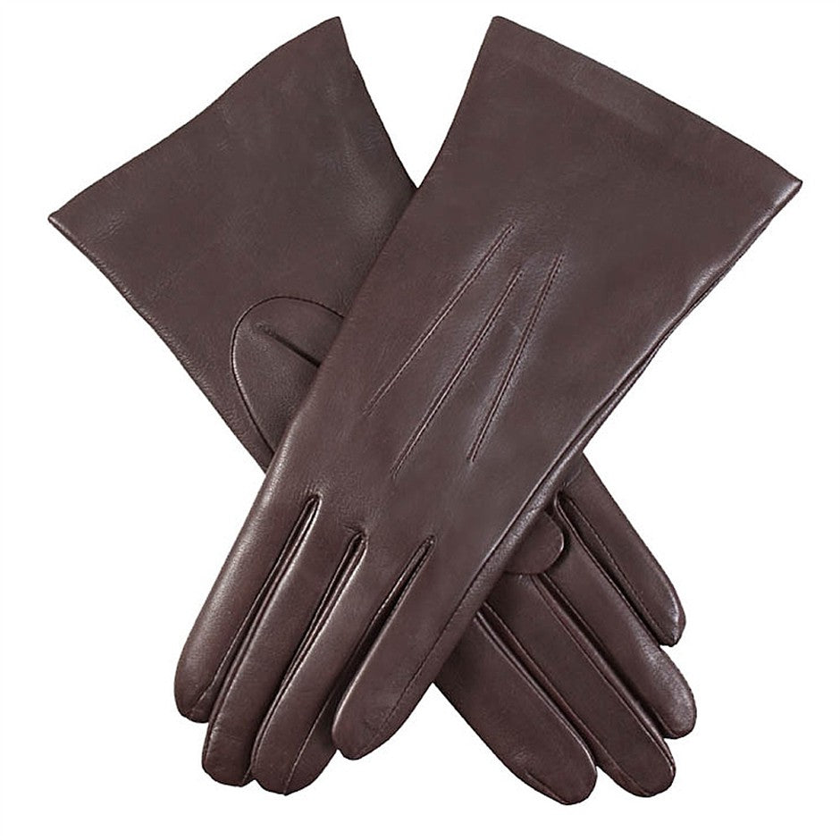 Isabelle Cashmere Lined Hairsheep Leather Gloves for Women in Mocca