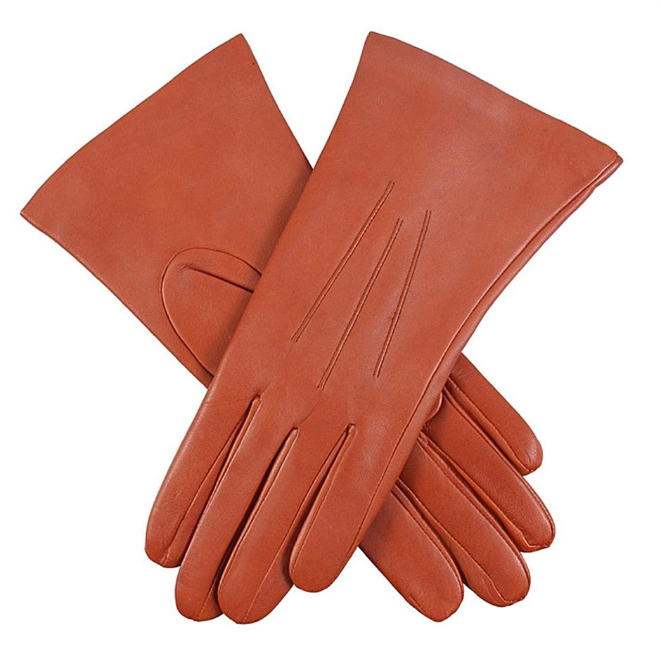 Isabelle Cashmere Lined Hairsheep Leather Gloves for Women in Cognac