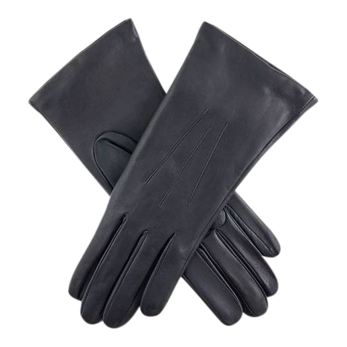 Isabelle Short Cashmere Lined Gloves for Women in Navy