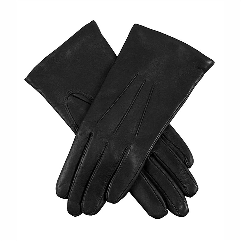 Emma Classic Hairsheep Leather Gloves for Women in Black