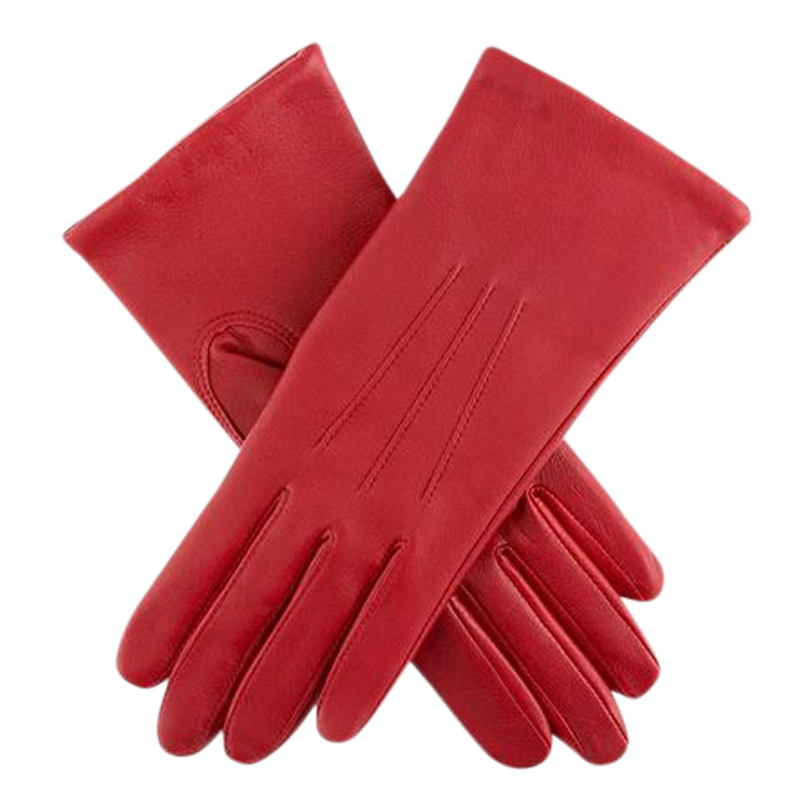 Classic Acrylic Lined Gloves for Women in Bright Red
