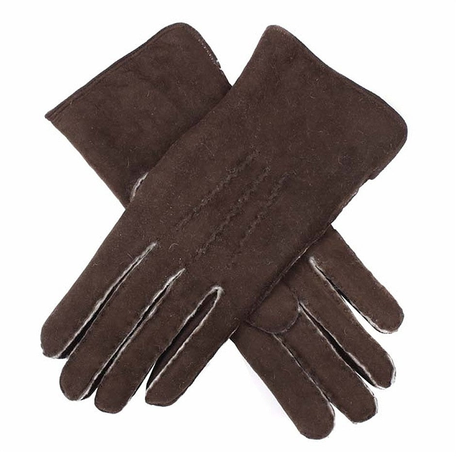 Hannah Lambskin Gloves for Women in Mahogany