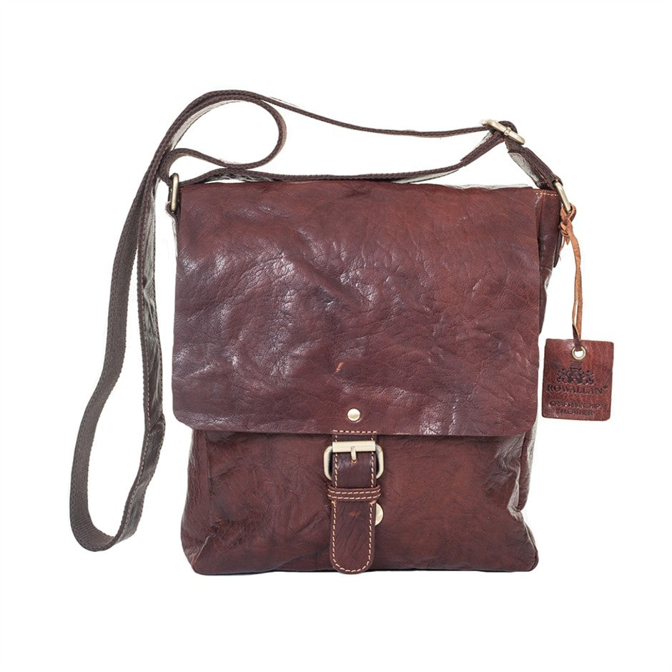 Half Flap Bag for Men in Copper
