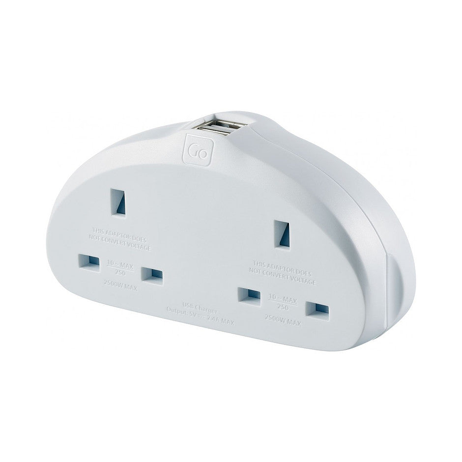 UK-EU Adaptor Duo Plug plus USB