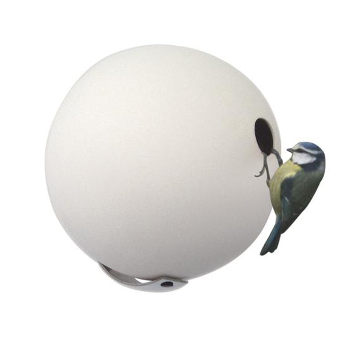 Wall Mounted Birdball in White