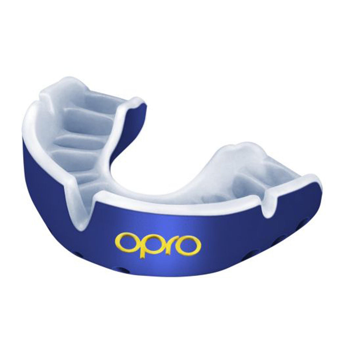 Ortho Gold Mouthguard in Blue & White