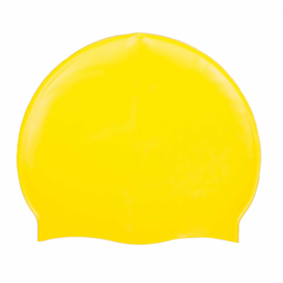 Silicone Swim Cap for Adults in Yellow