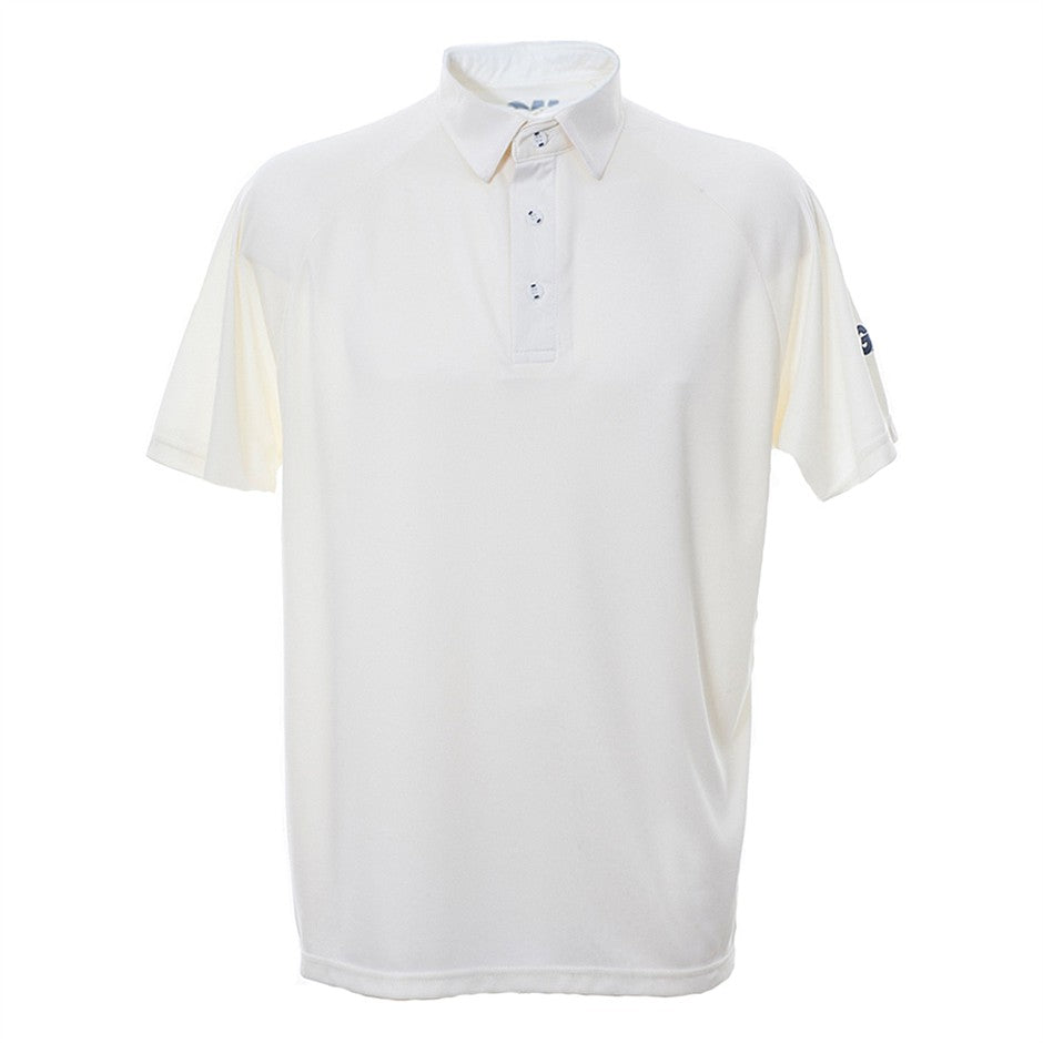 Premier Club Short Sleeve Cricket Shirt for Men in Ivory