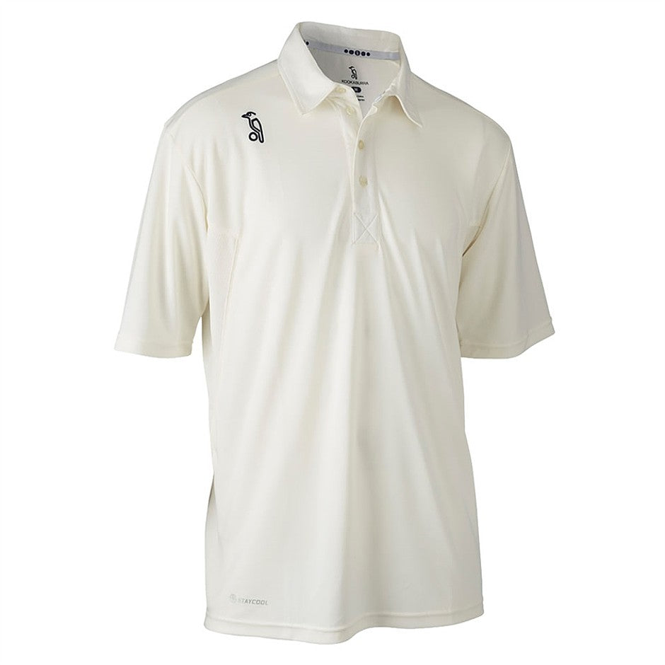 Pro Players Short Sleeve Cricket Shirt for Men and Boys in Ivory