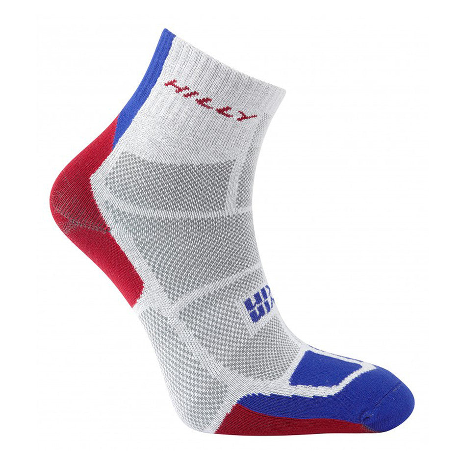 Twin Skin Anklet Socks for Men in White, Red & Blue