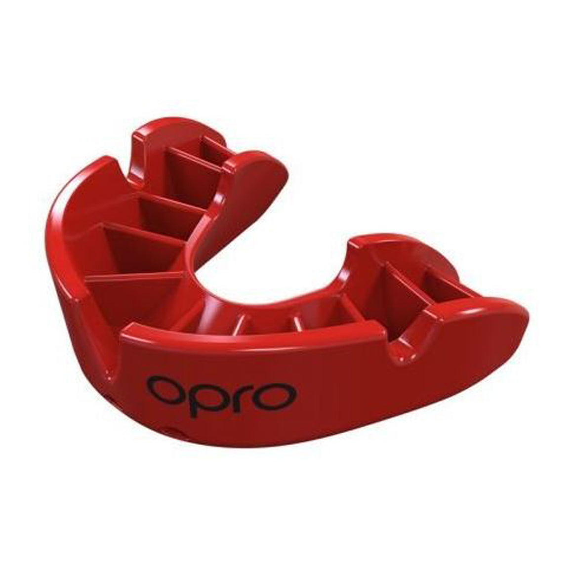 Bronze Mouth Guard for Adults and Juniors in Bright Red