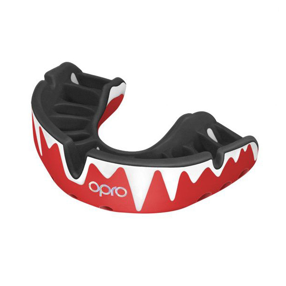 Platinum Mouthguard for Adults in Fangz Red/Black/Silver