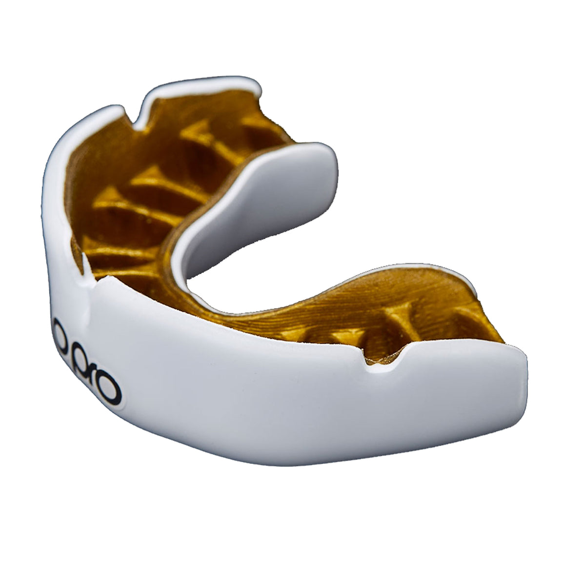 Power-Fit Mouth Guard for Adults and Juniors in White & Gold