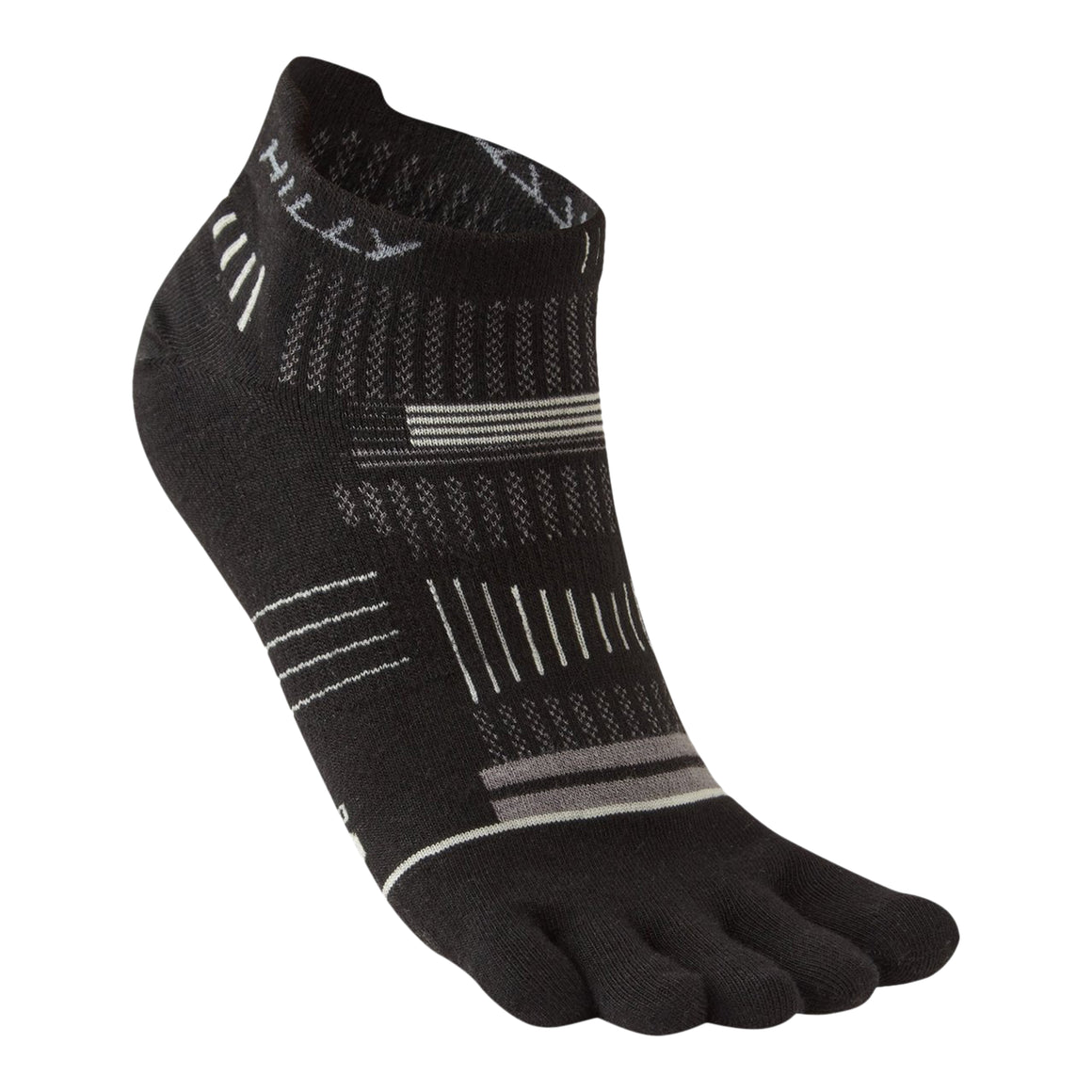 Unisex Toe Sock Socklet in Black/Grey/Light Grey