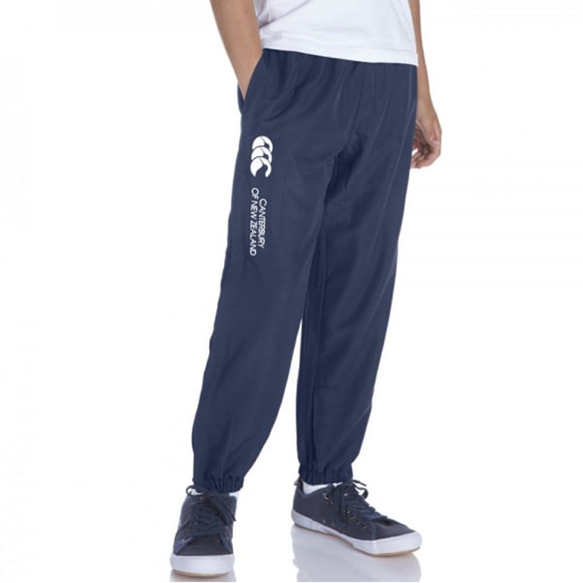 Cuffed Hem Stadium Pants for Kids in Navy