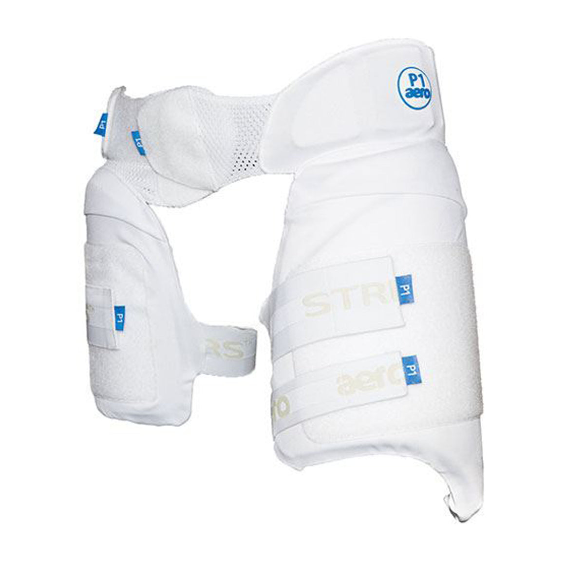 P1 Strippers Cricket Lower Body Protectors R/H in White