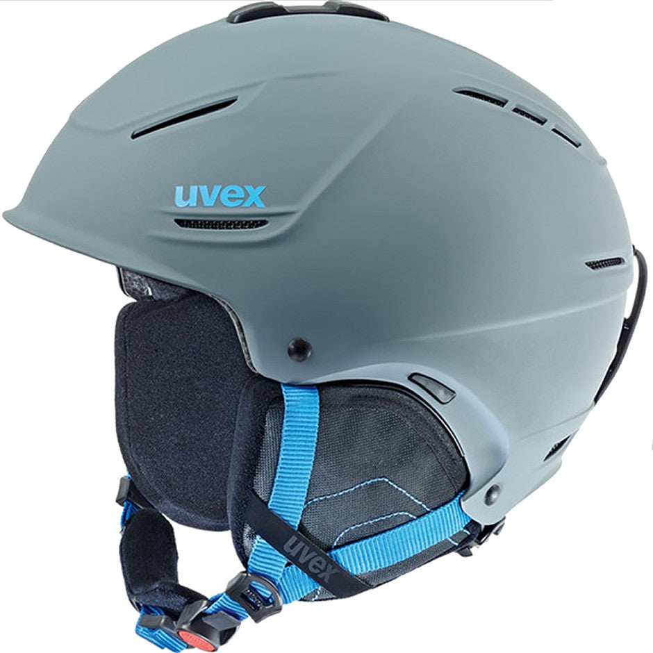 P1us All Mountain Winter Sports Helmet in Grey-Blue Mat