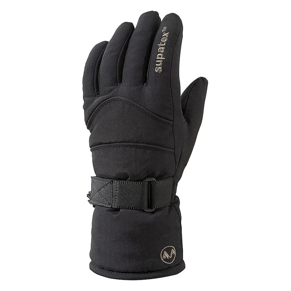 Rocket Supatex Thinsulate Ski Gloves for Women in Black