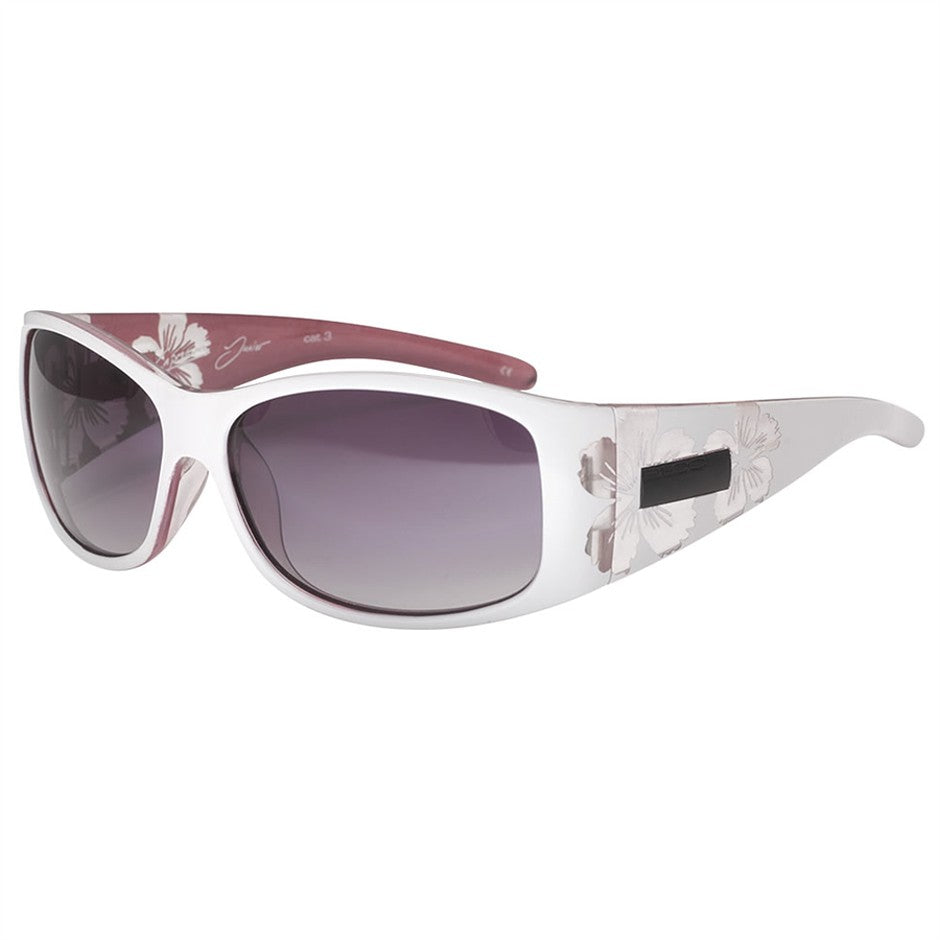 Capricorn Junior Sunglasses in White and Pink