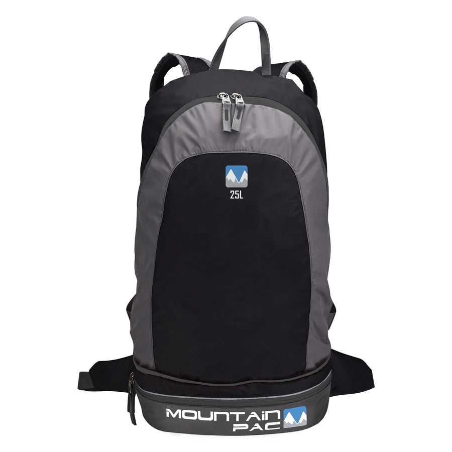 2 in 1 Backpack (25L) in Rock and Black