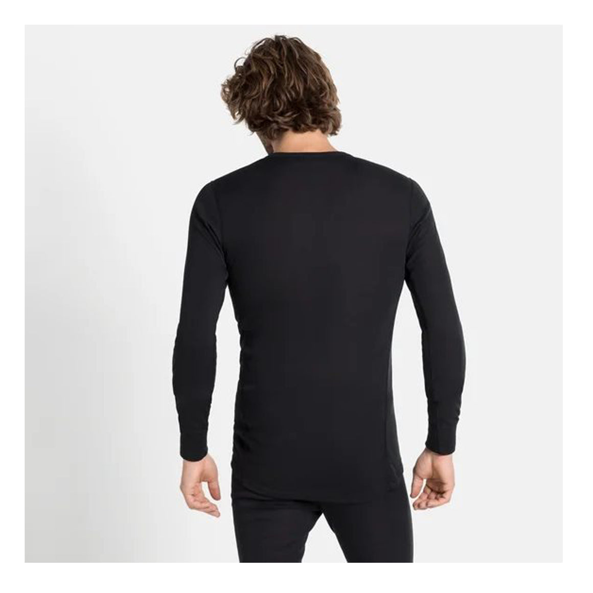 Active Warm Eco Crew Neck for Men in Black