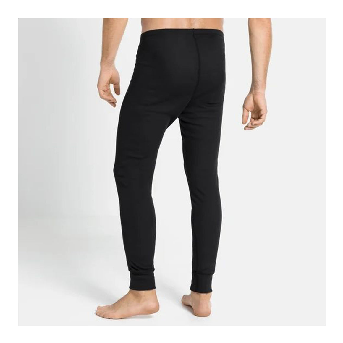Active Warm Eco Long Bottoms for Men in Black