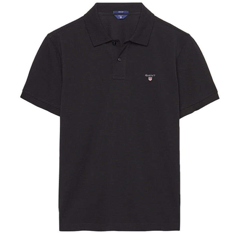 Short Sleeve Polo Shirt for Men in Black Plus Sizes 3 X-L & 4 XL