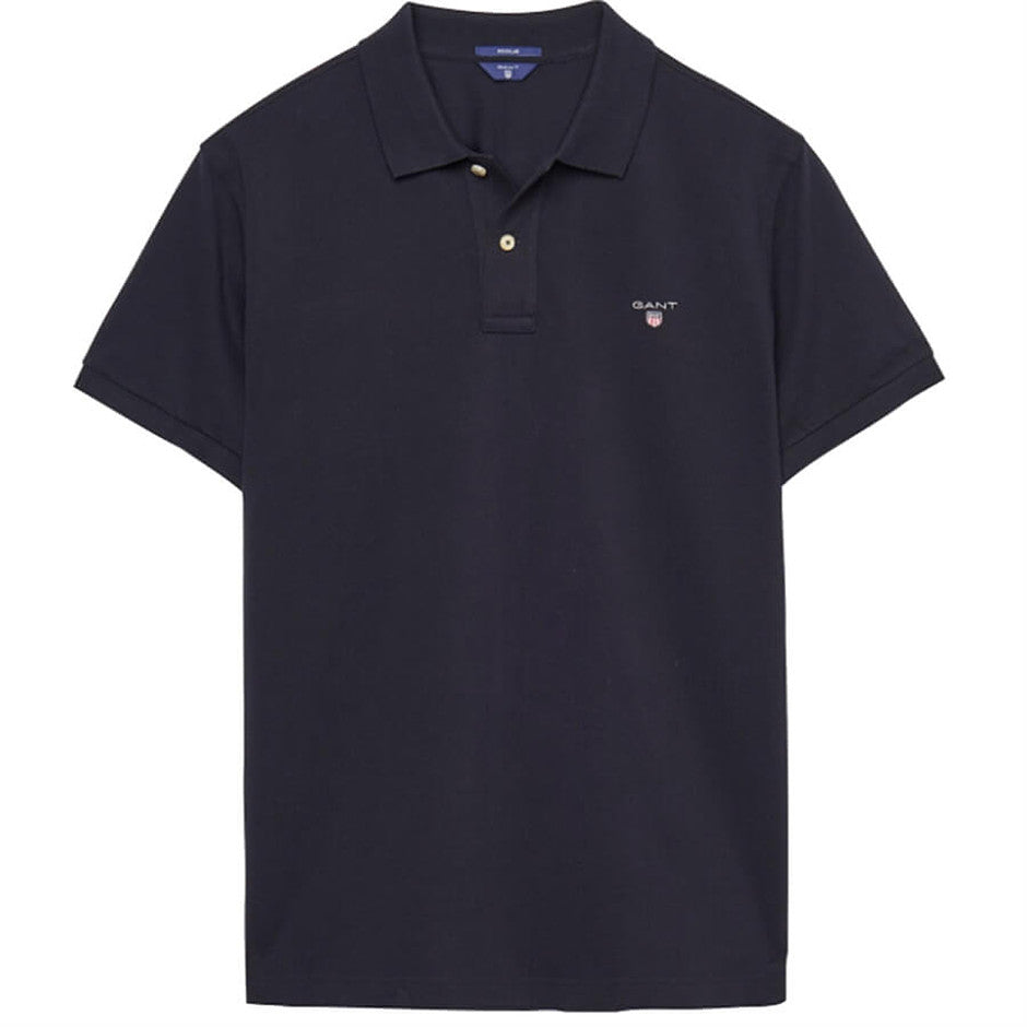 Short Sleeve Polo Shirt for Men in Navy Plus Sizes 3 X-L & 4 XL