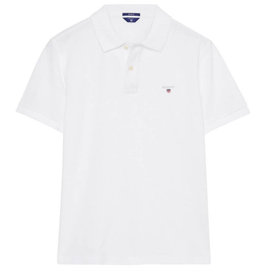 Short Sleeve Polo Shirt for Men in White Plus Sizes 3 X-L & 4 XL