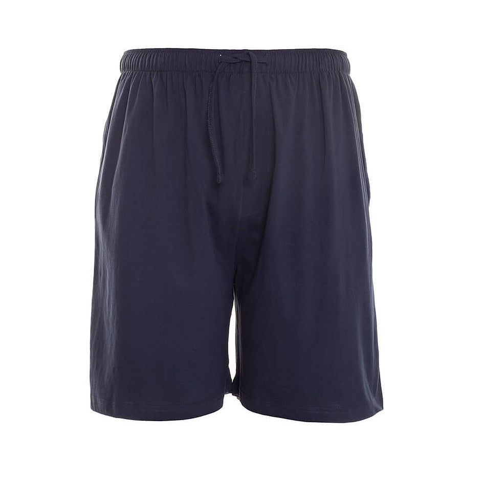 Two Pack PJ Shorts for Men in Navy and Black