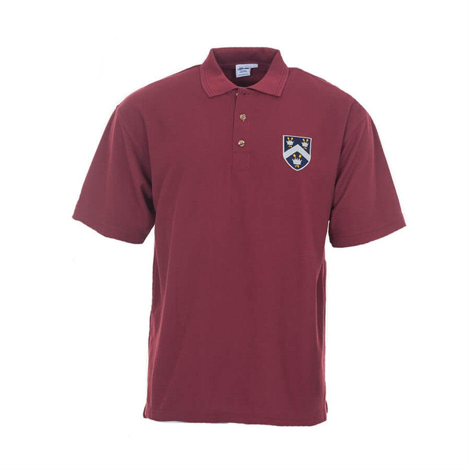 Old Framlinghamian Crested Polo Shirt - Maroon